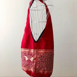 Ethnic Cloth Bag NWOT - Red